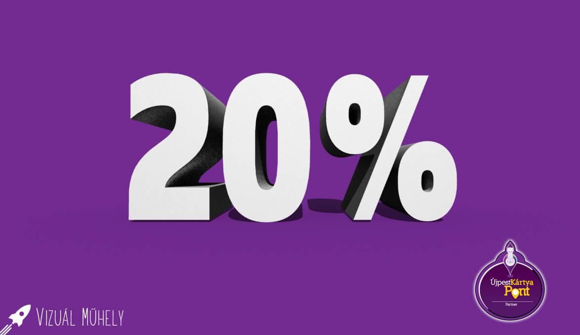 Hello Újpest! Használd a kártyád és 20% kedvezményt kapsz!