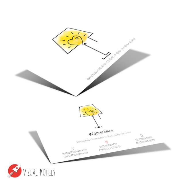 Fénymánia névjegykártya